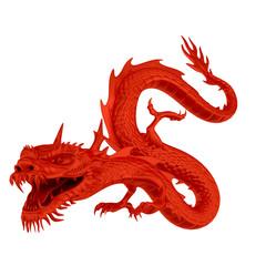 Red dragon head left