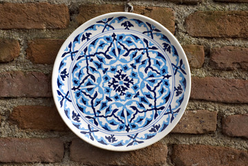 Ottoman Cini Plate