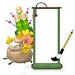 Hopping Sheep And Big Kadomatsu With Enpty Scroll