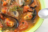 traditional portuguese mussel soup