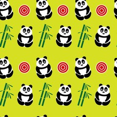 green panda background