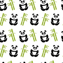 white panda background