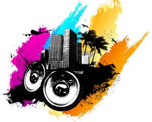 Music color city