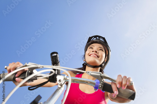 Mountain biking - portrait of young mountain biker