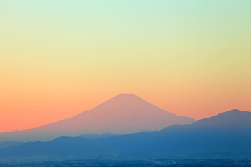 Mountain Fuji sunset