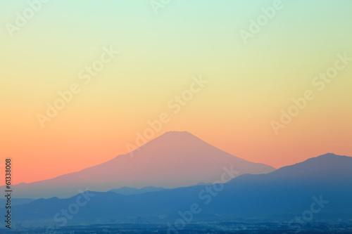 Mountain Fuji sunset
