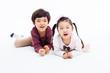 Happy Asian kids