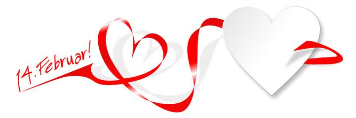 Herz | Schleife | 14. Februar