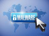 malware button illustration design poster