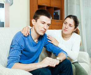 Loving woman tries reconcile with man