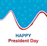 President Day in United States of America with colorful wave des