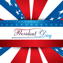 President Day in United States of America with colorful backgrou