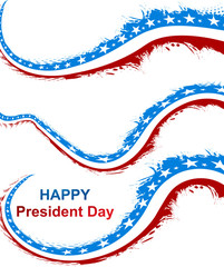 President Day in United States of America with colorful stylish