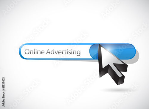 online advertising search illustration design