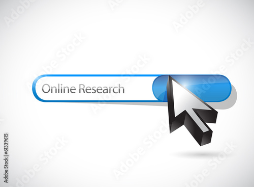 online research bar illustration design