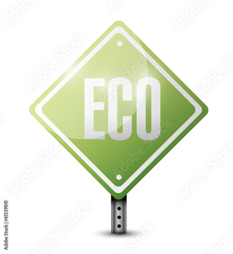 eco sign illustration design
