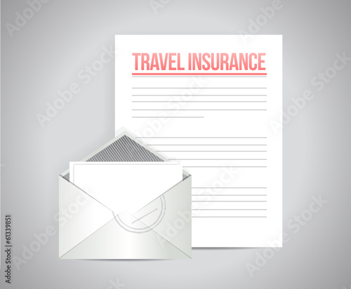 travel insurance documents illustration