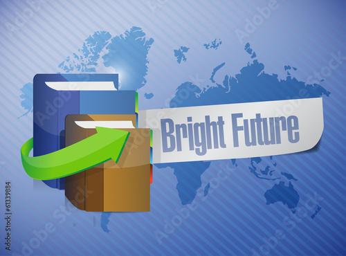 bright future message illustration design