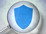 Protection concept: Shield with optical glass on digital
