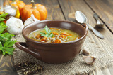 Lentil soup with pumpkin