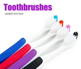 Tooth-brushes isolated on white