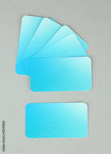Business cards, on color background