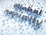 Security concept: Silver Global Security on digital background