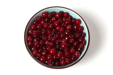 cranberries in dish