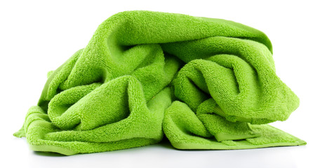 Colorful towel isolated on white