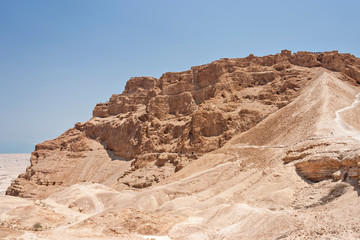 Roman Ramp at Masada in Israel