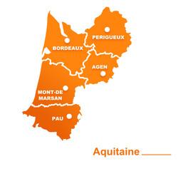 aquitaine région départements et villes