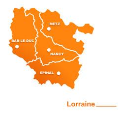 lorraine région départements et villes