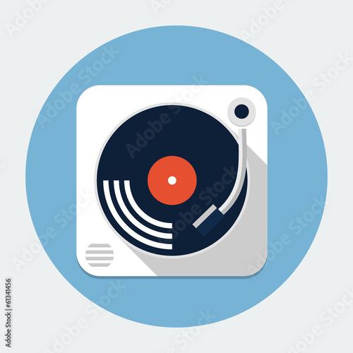 Turntable flat icon