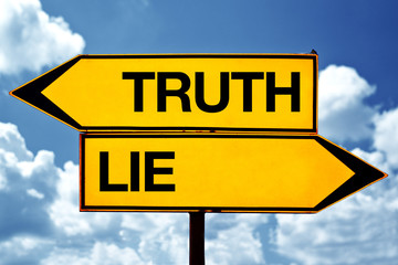 truth or lie opposite signs