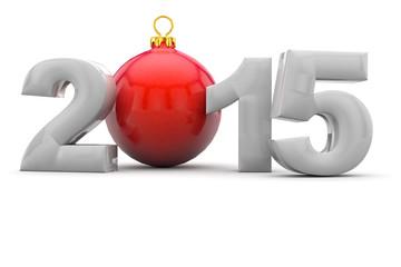 Weihnachten 2015 mit Christbaumkugel
