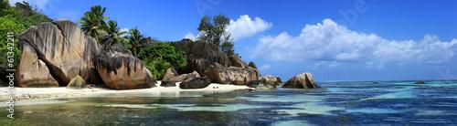Fotobehang Kust panorama des seychelles