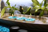 Beautiful spa setting with bamboo