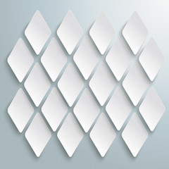 White Rhombus Pieces Structure Background