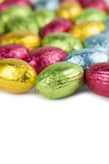 Chocolate eggs background