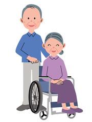 シニア女性 車椅子