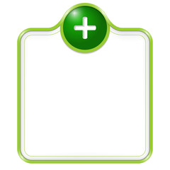 green vector box for text with plus sign