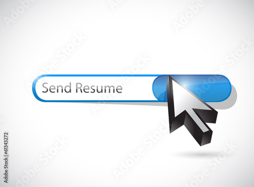 send resume message illustration design