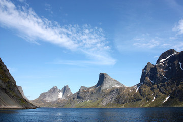 The sharp mountains of Lofoten