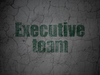 Business concept: Executive Team on grunge wall background