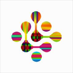 molecular structure, symbol