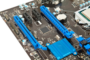 Part of laptop motherboard