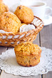 Pumpkin, pineapple and raisin muffins