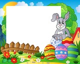 Frame with Easter bunny theme 5