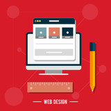 Icon for web design, seo, social media poster