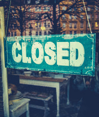 Grungy Closed Sign